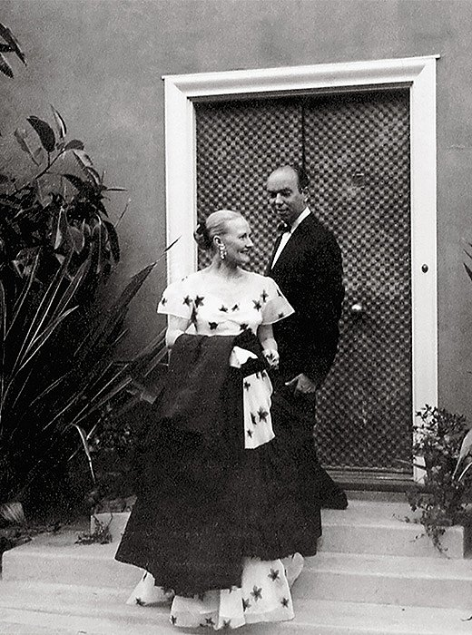 Tony and Elizabeth Duquette outside Dawnridge the year the house was completed. Photo courtesy of the Duquette Archives.