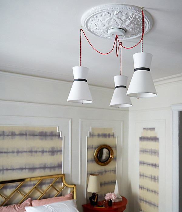 How to turn two lampshades into a chic modern pendant one kings as someone who enjoys adding customized elements to my home i often find myself experimenting with utilitarian items like a simple white paper shade aloadofball Image collections