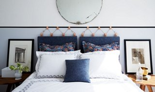 Simple Headboard Ideas Part - 27: This Gorgeous DIY Headboard Couldnu0027t Be Easier