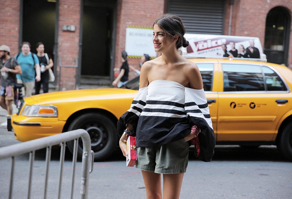 Medine getting noticed for her singular take on style during New York Fashion Week.