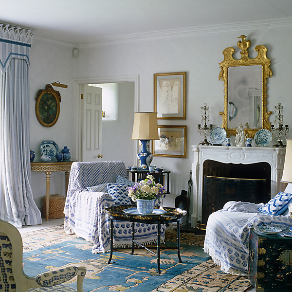 our favorite blue and white rooms