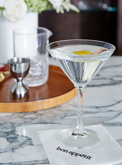 Adam Rapoport typically drinks vodka and club soda, but he can also turn out an impressive martini.