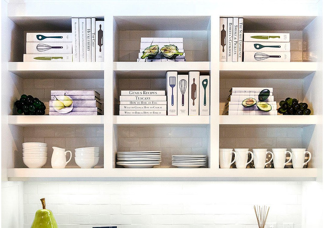 Juniper Books' food-themed sets—like those with the cheeky utensil-accented jackets above—feel right at home in the kitchen.