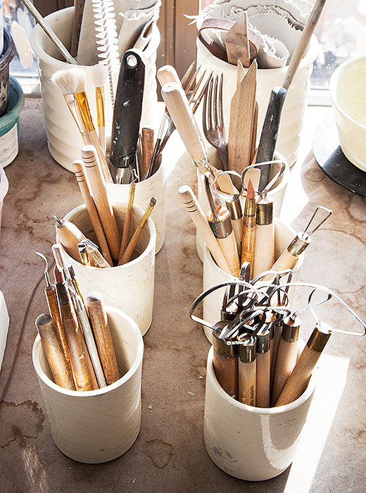 It takes a village of sculptural tools to create a Spitzmiller design.