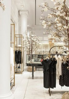 Blossoming trees an old vitrine freestanding racks of clothingu2014all are part & Decorating Ideas to Steal from Club Monaco