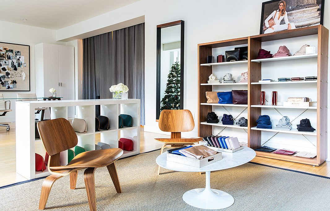 "In the Cuyana store, a pair of Eames lounge chairs and a Tulip table make a strong case for ""fewer, better"" pieces."