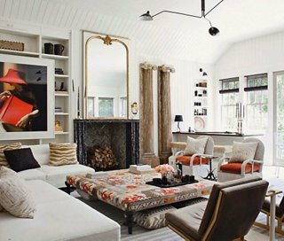 A warm and welcoming living room designed by Windsor Smith. & Q\u0026A: Living Room Layouts and Shoe Storage