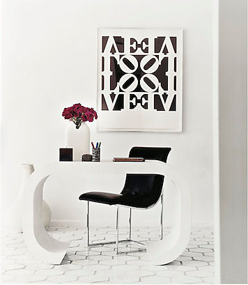 Decorate with black white live love home - Black and white office decor ...