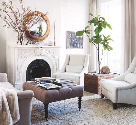 A Calming Living Room