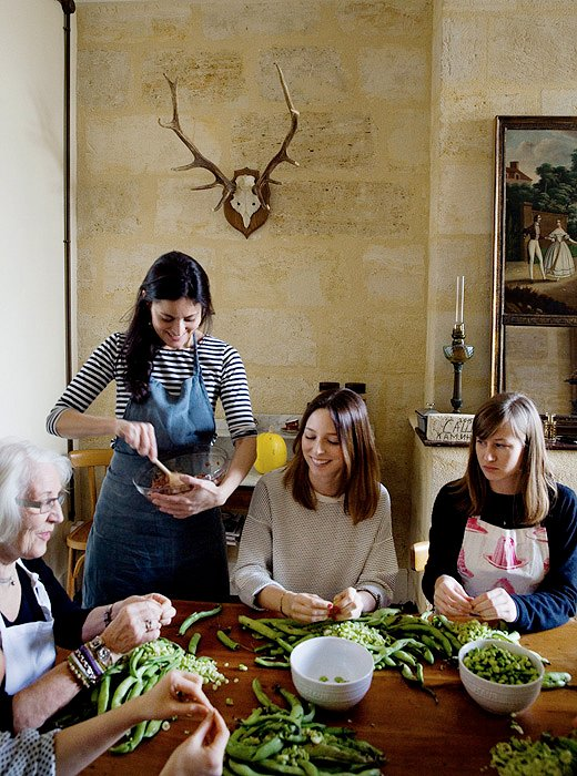Teaching cooking workshops is a new part of Mimi's routine. Visitors from across the world come to immerse themselves in her remote corner of France.