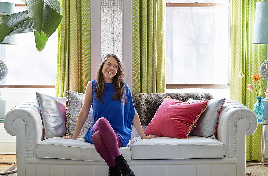 "After 15 years in Manhattan's West Village, the designer and her family made the move to Carroll Gardens, Brooklyn. ""The houses and gardens here have the same sensibility,"" says Fawn. ""I love the smaller scale of the area."""