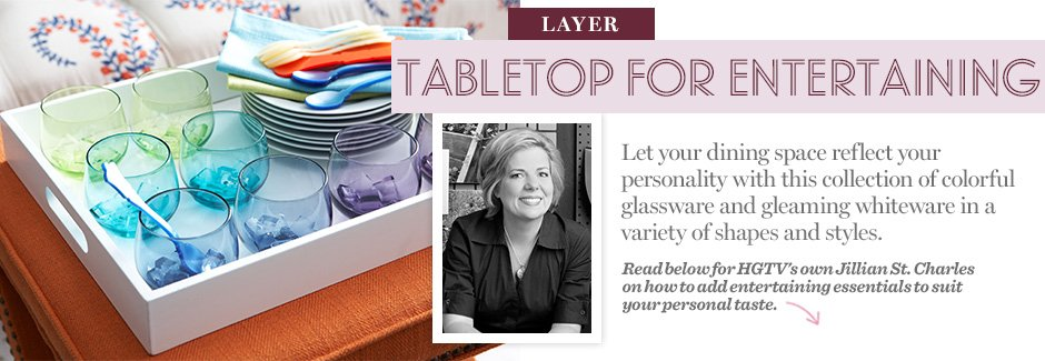 Layer: Tabletop for Entertaining