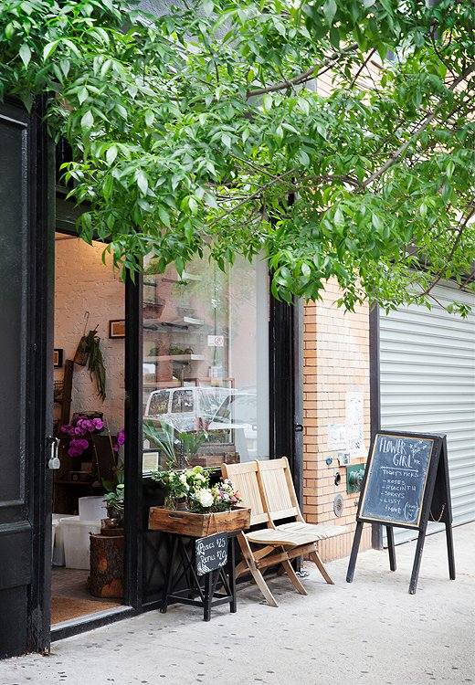 The inviting and inspiring exterior of Porcaro's dreamy Lower East Side shop.