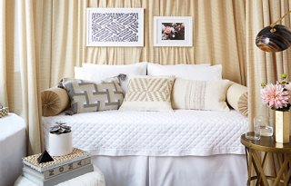 A Glamorous and Renter Friendly Bedroom Makeover A