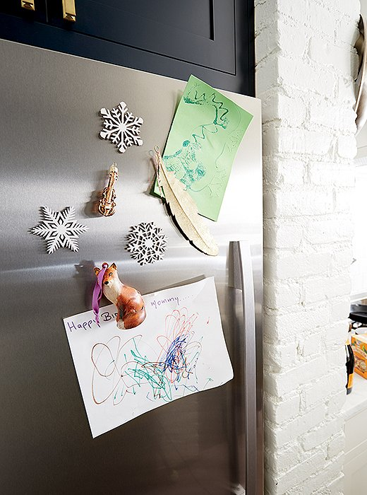 Tip: Attach magnets to the back of especially adorable ornaments.