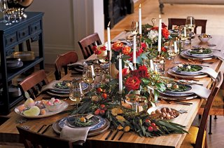 Candlelight and stunning decoration create an atmosphere that makes guests want to linger. Try snaking a garland down the center of the table as an ... & 14 Gorgeous Holiday Table Settings - Our Style Blog - One Kings Lane