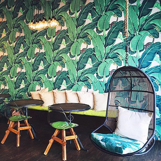 Awe Inspiring Oklobsessed Tropical Leaf Print Looks We Love Machost Co Dining Chair Design Ideas Machostcouk