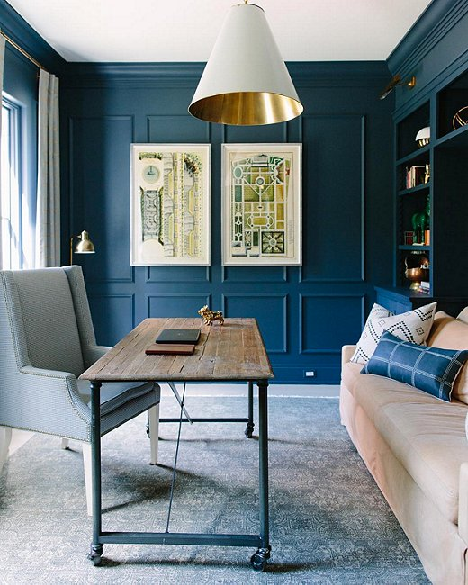 Imagess Dark Blue Accent Wall: Instagram's Favorite Fall Trend: Dramatically Dark Accent
