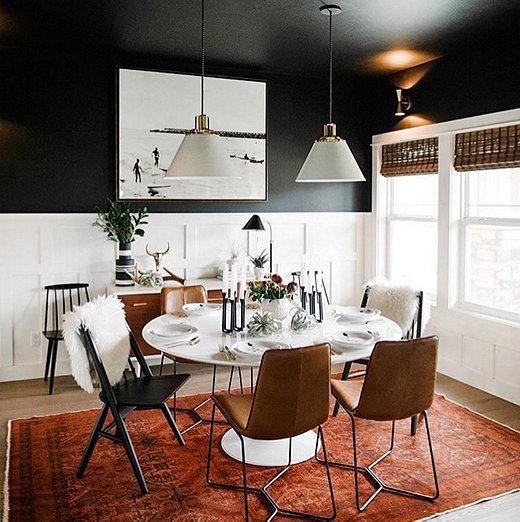 Modern Dinning Rolm Accent Wall: Instagram's Favorite Fall Trend: Dramatically Dark Accent