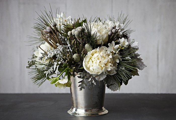 Stunning winter flower arrangements wintry white arrangement mightylinksfo