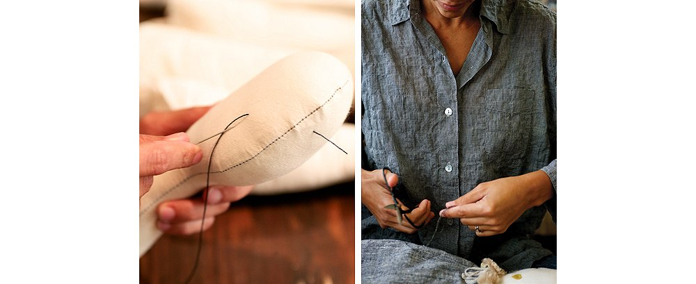 Details, such as eyes, are still hand-stitched onto each doll despite the growing demand for Brown's creations.