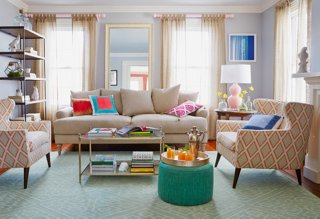 It May Not Officially Be Spring Just Yet, But Adding Seasonal Motifs, Lots  Of Color, And Of Course, Tons Of Light Will Make Your Living Room Look And  Feel ...