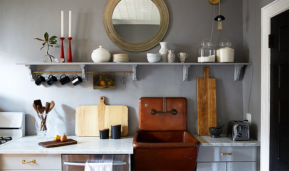 an outdated kitchen gets a loving diy makeover. Interior Design Ideas. Home Design Ideas
