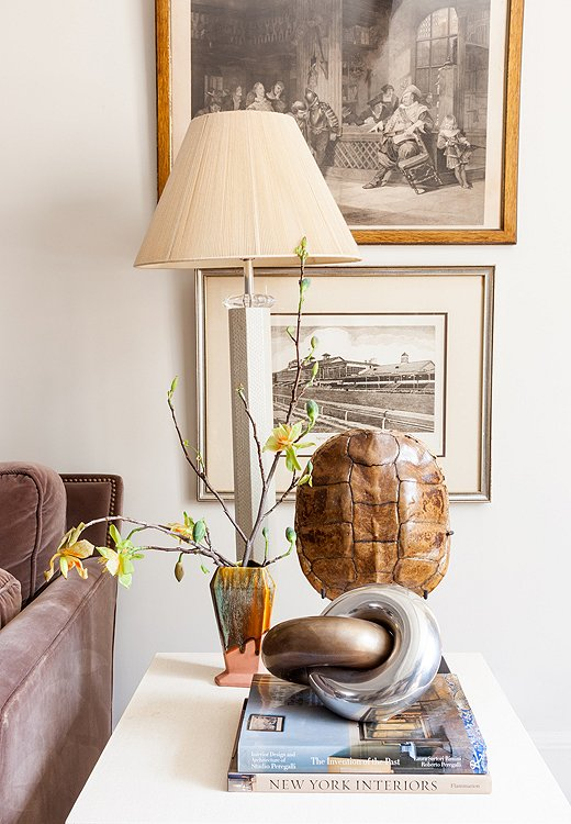 Although she collects a lot of amazing objects, Smith keeps her space from feeling cluttered by corralling pieces into vignettes and letting other areas breathe.
