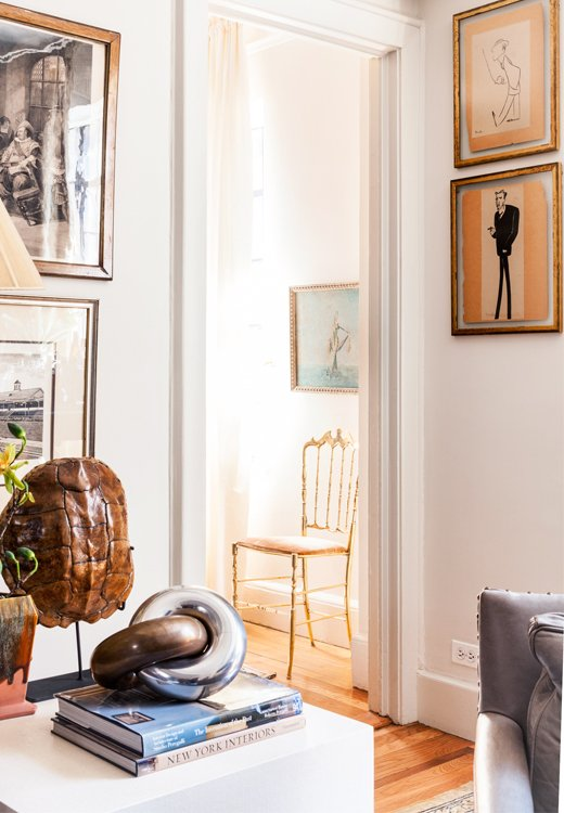 A peek into the guest room just off the main living space reveals a