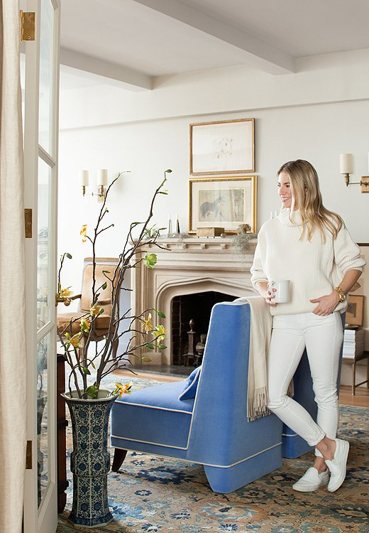 Smith's classic taste and love of neutrals translate into her wardrobe as well as her interiors.