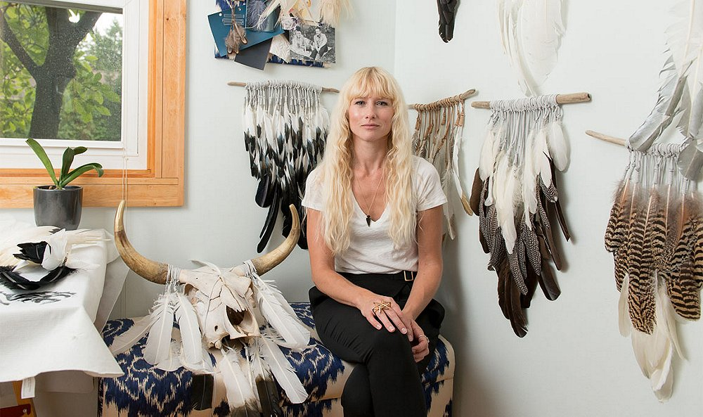 Meet the Designer Behind These Gorgeous Feather Art Hangings