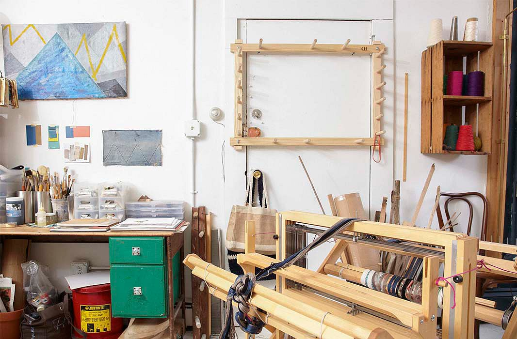 A view of Nadia's work space in the back of the store.