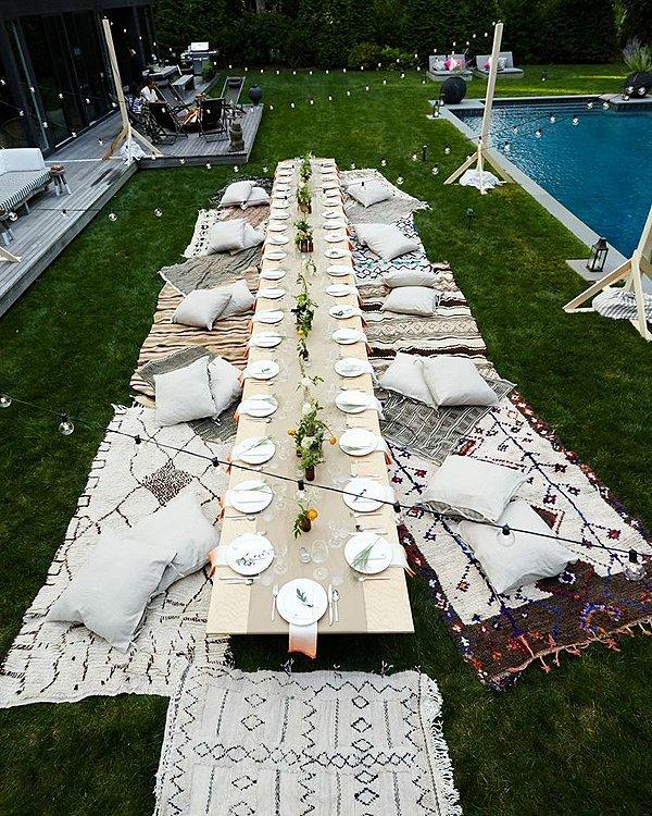 Modern Boho Outdoor Dining Room