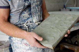 Antonson Sculpts Some Of His Pieces In Clay Before Casting Them In Plaster.