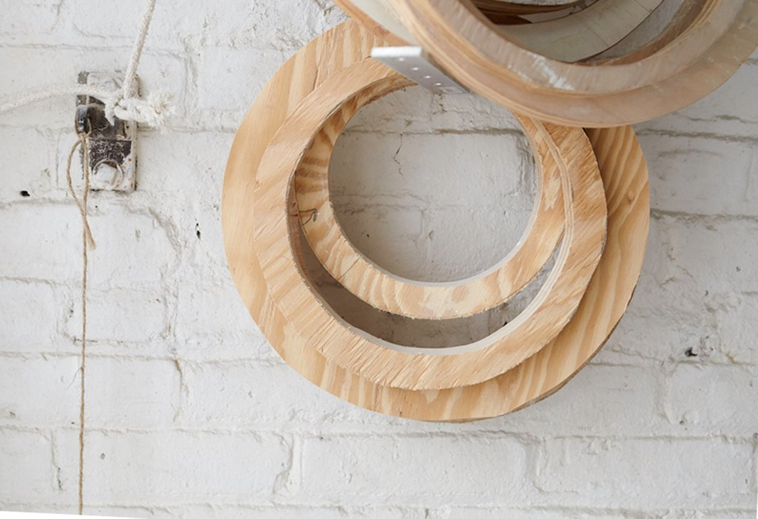 Some of Antonson's creations are first fabricated in wood before being plastered to ensure a sturdy core.