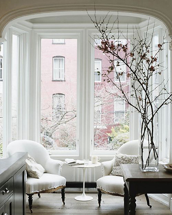 Bay Window Decoration: White Rooms On Pinterest