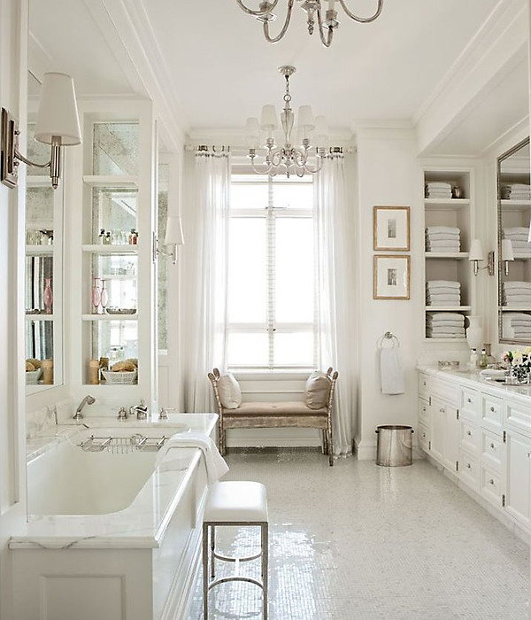 French Country Bathroom Flooring: White Rooms On Pinterest