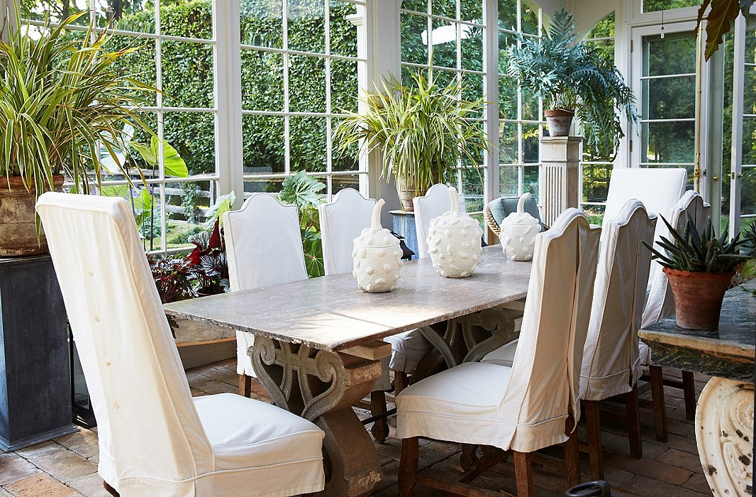 The Very Sociable Bunny And John Host Many Dinner Parties In Conservatory Tabletop