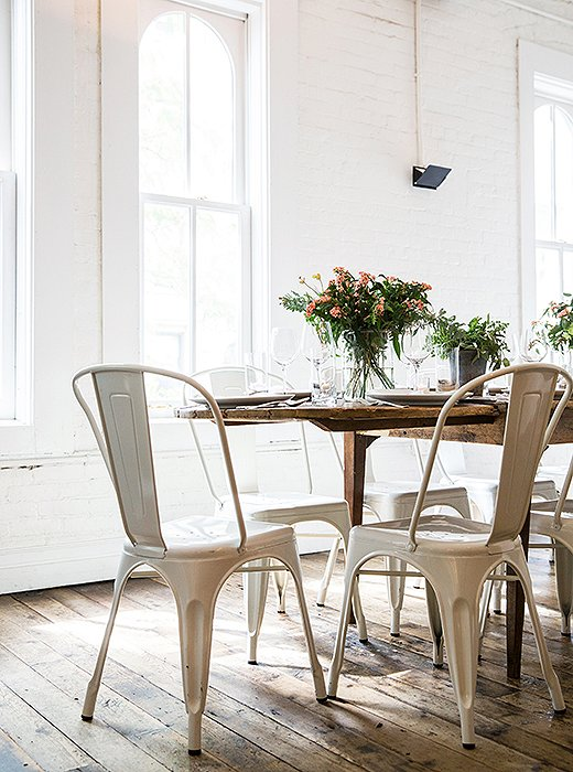 Classic café chairs are another restaurant secret—they add a modern chic to the scene and can stack in a snap.