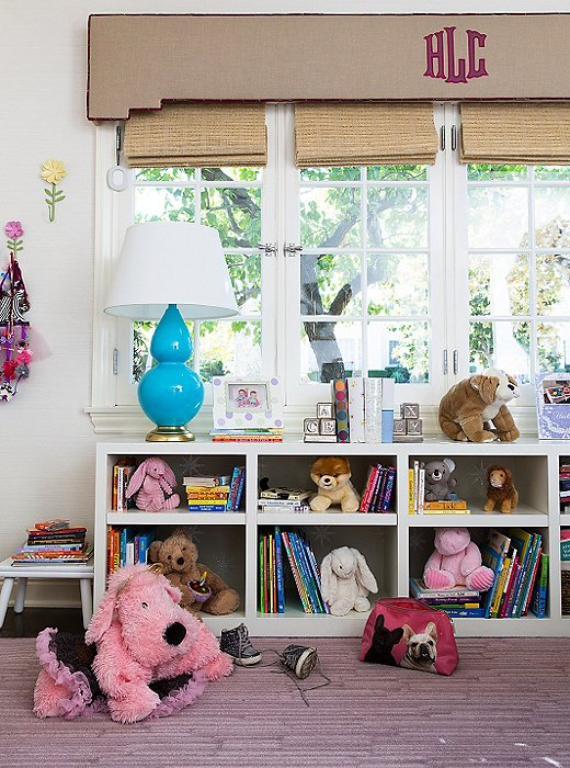 Kids' toys automatically inject a room with color, so even if you choose relatively sedate carpeting and furniture, you'll never lack for pop.