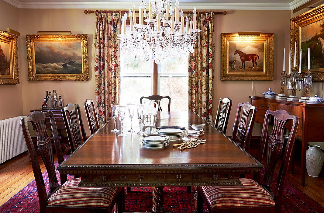 The Sunlit Dining Room Is Decorated In Warm Tones And Textures From Edwardian