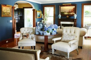 in the living room a sampling of collection of antique chinoiserie pieces cluster artfully