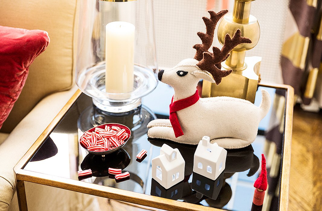 Candles and a few kitschy bits of holiday decor are ever-present in the Bunn household around the holidays.