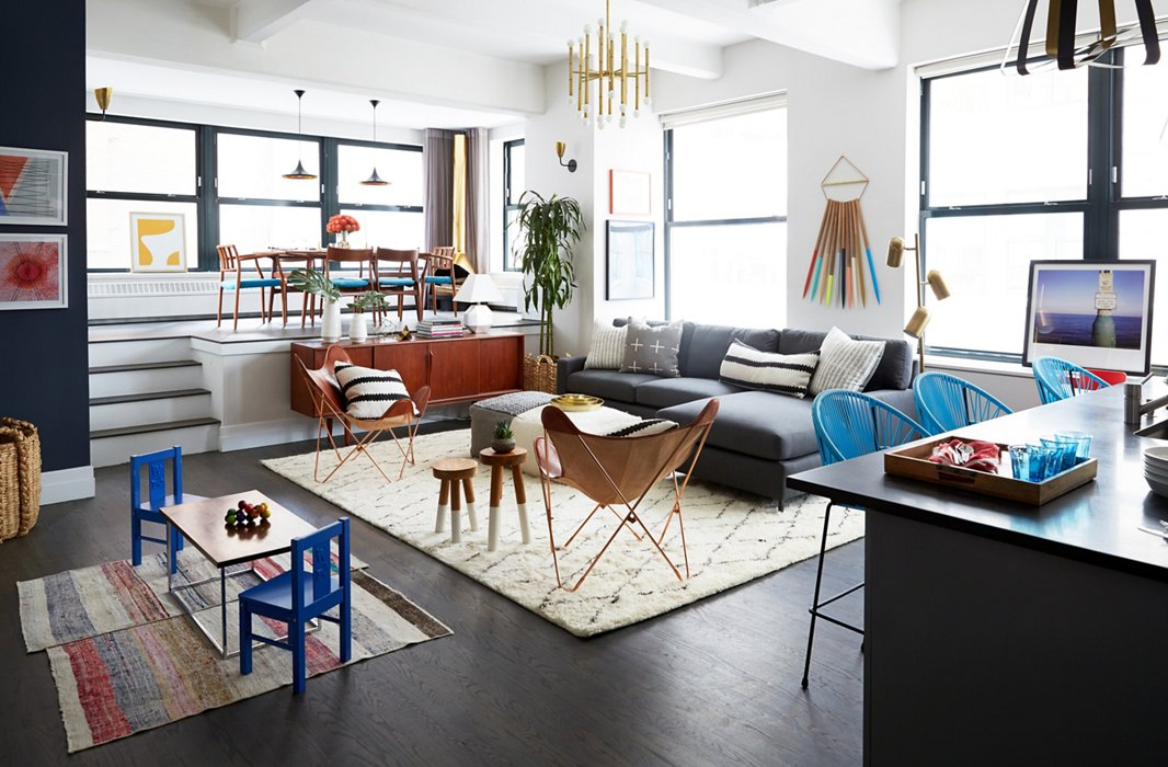 One Floor Apartments our vibrant makeover of rebecca minkoff's apartment