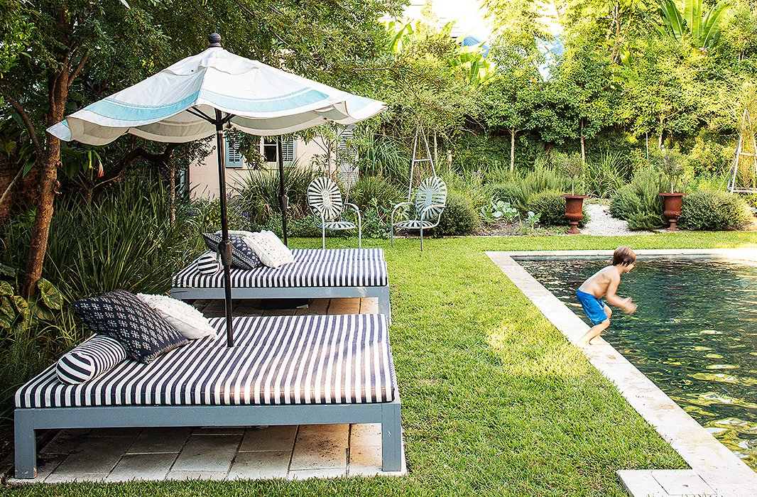 Young Ruffin Prepares For A Plunge Into The Backyard S R Pool Beds And