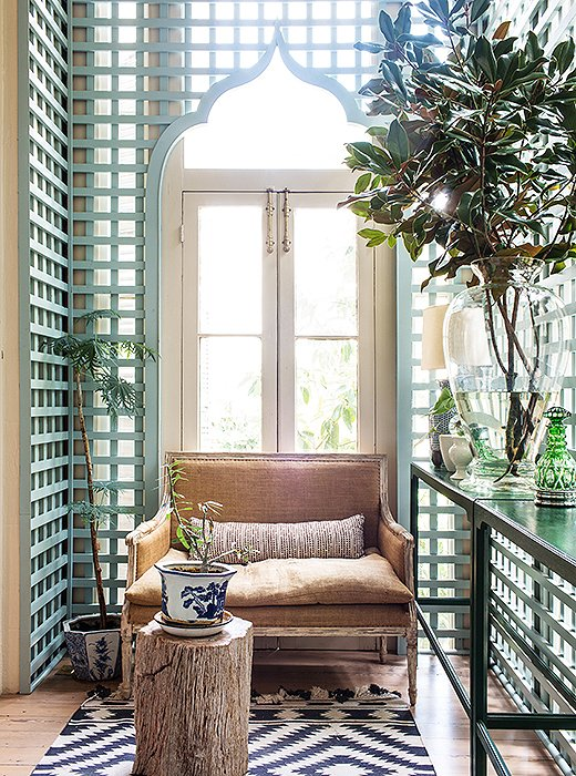 using trellises indoors is a southern tradition sara replaced the aging trellis in the house - Home Decor New Orleans