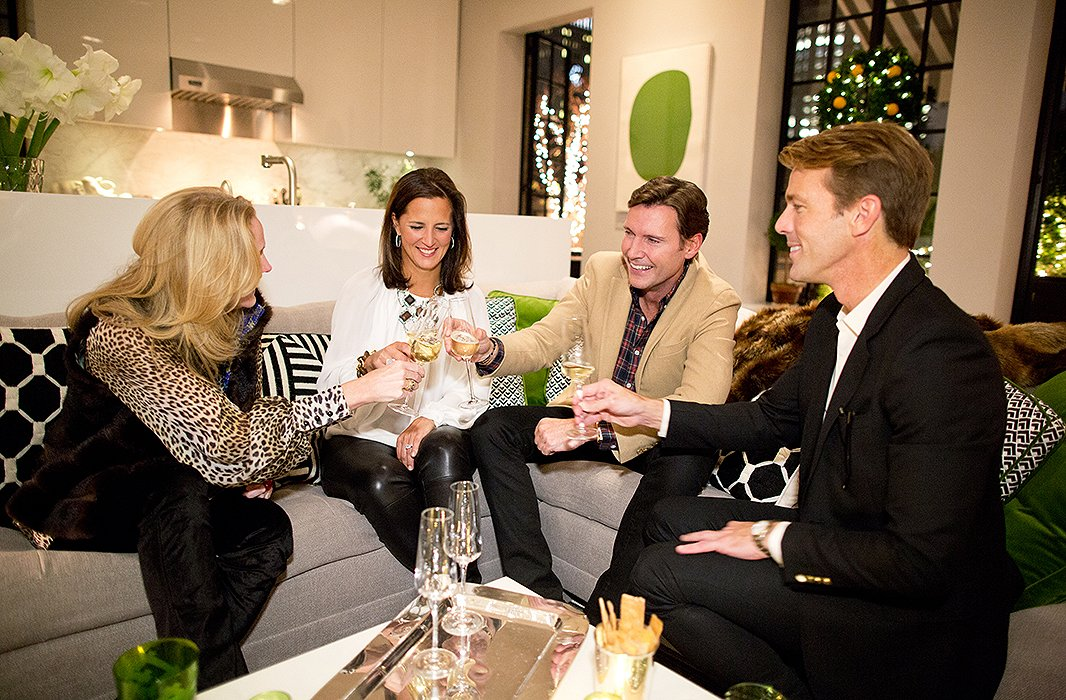 """For Timothy, holiday entertaining is all about """"connecting with my guests,being able to enjoy conversations, and seeing that they're having a good time,"""" he says."""