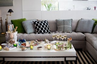 Given The Apartmentu0027s Compact Layout And Lack Of A Formal Dining Space,  Entertaining Is Always