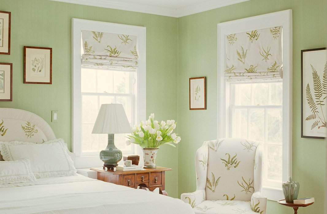 Appealing Green White Bedroom Designs