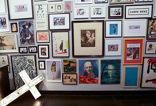 Eclectic Wall Art chris benz office tour